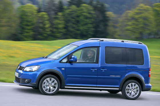 VW Cross Caddy blau