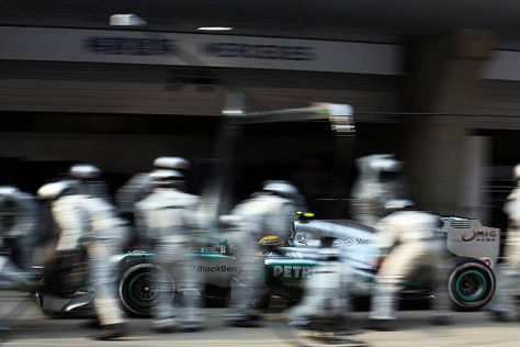Problemzone Boxenstopp: Hamilton passieren immer wieder Fehler