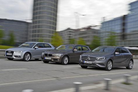 Audi A3 2.0 TDI, BMW 118d, Mercedes A 200 CDI