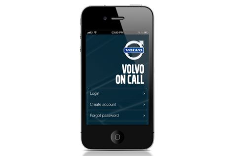 Smartphone-App Volvo on Call