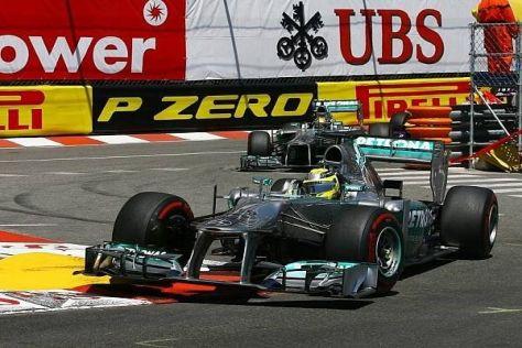 Nico Rosberg hat im teaminternen Duell gegen Lewis Hamilton aktuell die Nase vorn