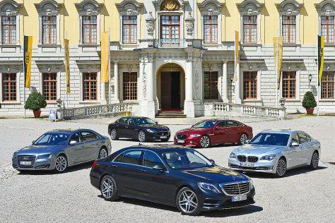 Fünf Luxuslimousinen im Vergleich