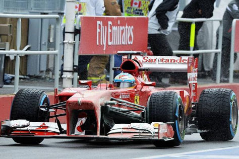 Fernando Alonso während des Trainings zum Großen Preis von Kanada in Montreal