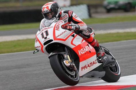 Ben Spies konnte aufgrund seiner Schulter die Ducati noch nicht ans Limit bringen