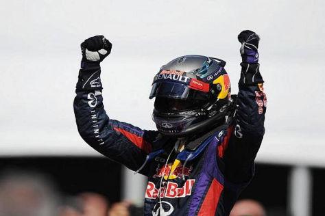 Sebastian Vettel ließ schon am Start die Konkurrenz deutlich hinter sich