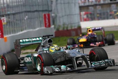 Trugbild: Nico Rosberg war ohne gutes Tempo nicht lange vor den Red Bull