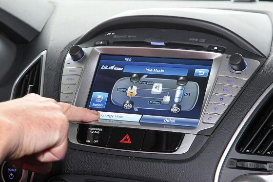 Hyundai ix35 FuelCell Brennzelle Display