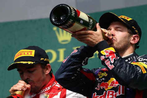 Sebastian Vettel startete besser als Alonso in die Saison 2013