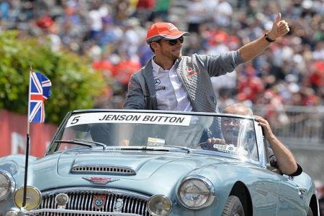 Bei diesem Gefährt muss Jenson Button wohl nicht ans Reifenmanagement denken
