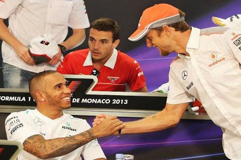 Zwei, die sich versteh'n: Lewis Hamilton (li.) und Jenson Button waren Teamkollegen
