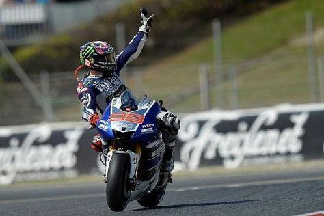 Jorge Lorenzo fuhr ein makelloses Rennen und wiederholte den Vorjahressieg