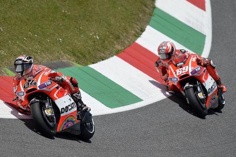 Andrea Dovizioso und Nicky Hayden kämpfen nach wie vor mit stumpfen Waffen