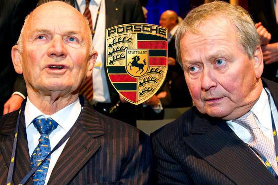 Ferdinand Piëch (l.) und Wolfgang Porsche