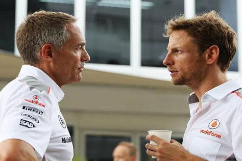 Da stimmt die Chemie: Martin Whitmarsh (links) und sein Pilot Jenson Button