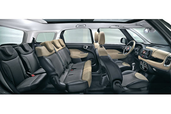 Fiat 500L Living Innenraum