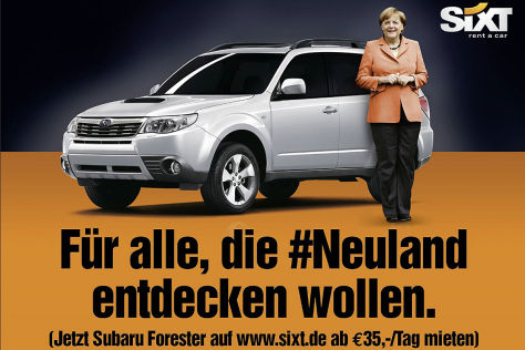 Sixt-Werbung mit Merkel