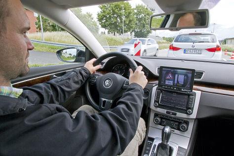 Fahrer bei Studie simTD
