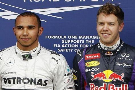 Heute Rivalen, eines Tages Teamkollegen? Lewis Hamilton und Sebastian Vettel