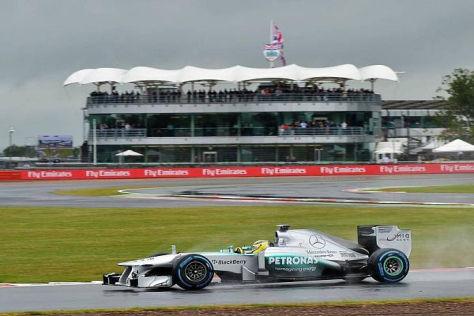 Nico Rosberg stand am Ende des Trainingseinheit an der Spitze