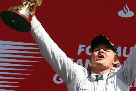 Nico Rosberg holte sich beim Klassiker in Silverstone den zweiten Saisonsieg