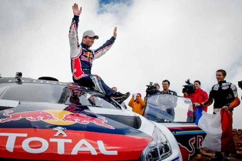Sebastien Loeb nach dem Sieg am Pikes Peak 2013