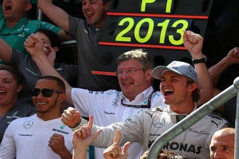 Zum zweiten Mal durften Nico Rosberg und Mercedes 2013 einen Sieg feiern