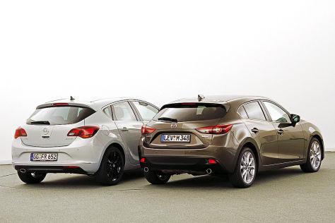 Mazda3 Opel Astra