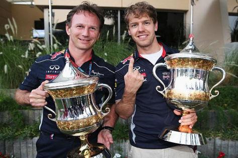 Ein erfolgsverwöhntes Dou: Teamchef Christian Horner und Sebastian Vettel