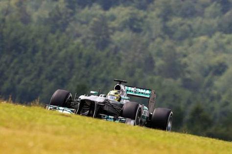 Nico Rosberg startet von Platz elf, sein Teamkollege von der Pole