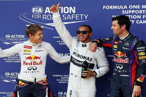 Lewis Hamilton schnappte Sebastian Vettel die Pole-Position weg