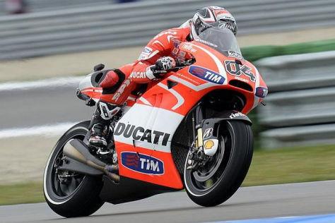 Andrea Dovizioso wagt am Sachsenring einen Versuch mit der neuen Desmosedici