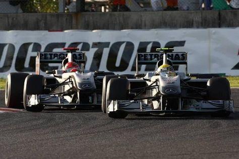 Bereits in Schumachers Comeback-Saison 2010 hatte Rosberg intern die Nase vorn