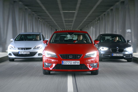 BMW 1er Opel Astra Seat Leon