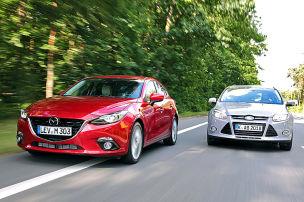 Mazda3 fährt Focus fort