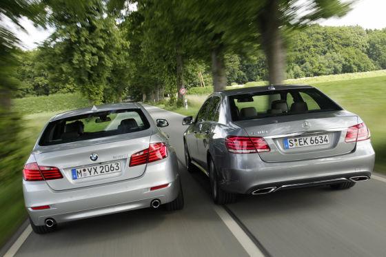 BMW 5er Mercedes E-Klasse