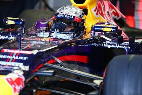 Sebastian Vettel spulte am Freitag 79 Runden in Silverstone ab