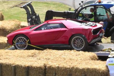 Italdesign Giugiaro Parcours nach einem Crash beim Festival of Speed