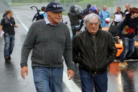 Niki Lauda und Bernie Ecclestone auf dem Red-Bull-Ring in der Steiermark