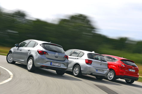 BMW 1er Ford Focus Opel Astra