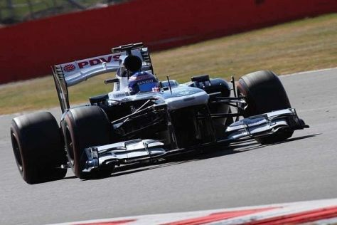 Susie Wolff im Williams beim Young-Driver-Test in Silverstone