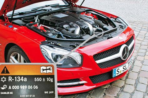Brandversuch von Daimler mit dem Kältemittel R1234yf Dezember 2012 - Spanien