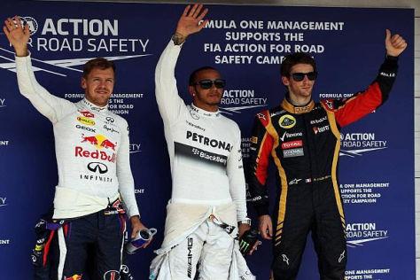 Lewis Hamilton holte sich die 30. Pole und die dritte in Folge