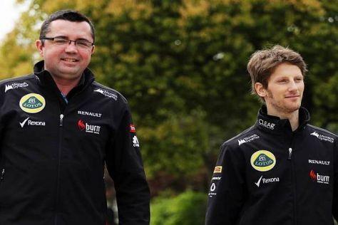 Eric Boullier ist froh, dass Romain Grosjeans schwierige Phase vorüber ist