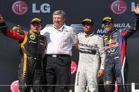 Lewis Hamilton holte sich den Sieg im Hitzerennen von Budapest