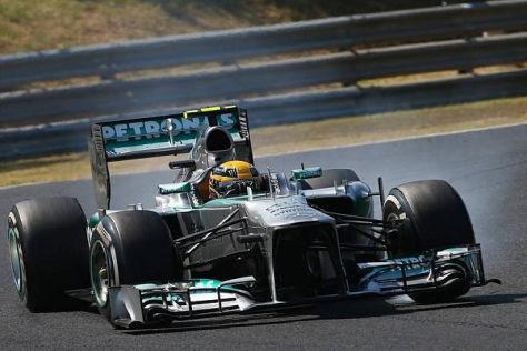 Lewis Hamilton feierte seinen ersten Sieg im Mercedes-Werksteam