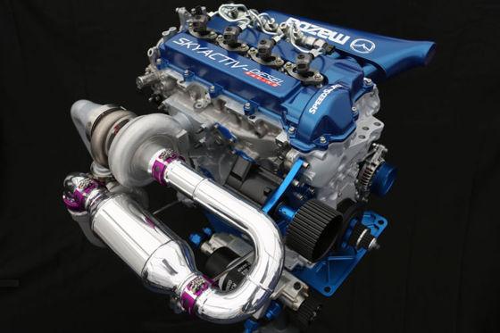 Motor des Mazda6 Skyactiv-D Clean Diesel Racecars