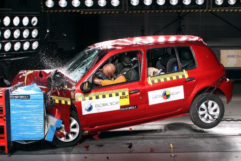 Renault Clio Mio Latin NCAP Crashtest Juli 2013