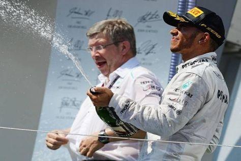 Lewis Hamilton und Ross Brawn könnten nicht zum letzten Mal gejubelt haben
