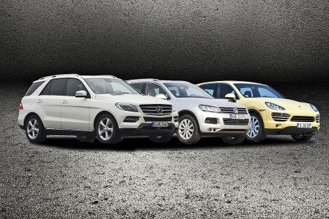 Mercedes ML, VW Touareg und Porsche Cayenne