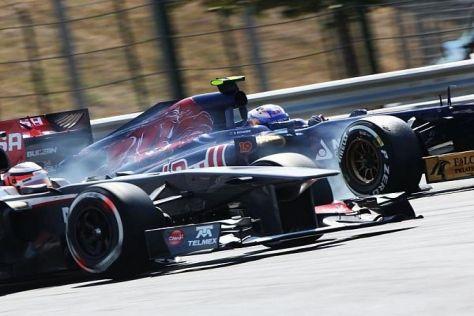 Ohne Chance: Im Rennen wurde Daniel Ricciardo durchgereicht